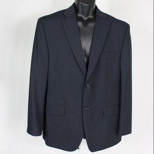 Calvin Klein navy blue pinstripe 2 piece wool suit